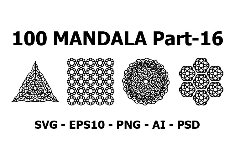 Various Pattern collections 100 Mandala pattern set