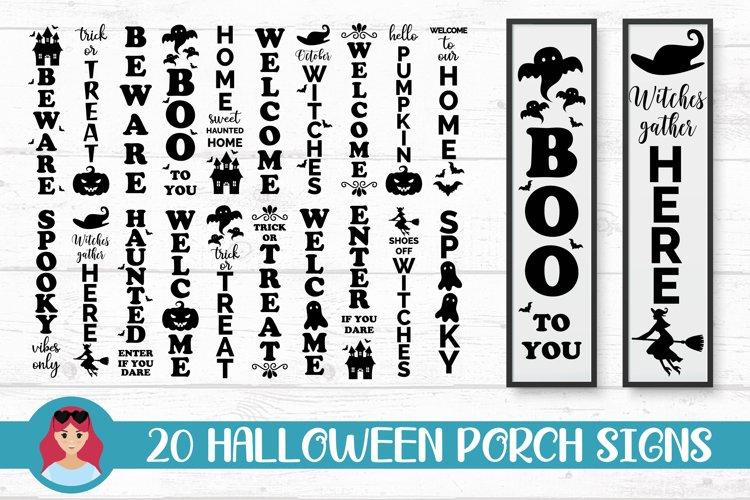 20 Halloween Porch Signs, door vertical signs bundle vol 2