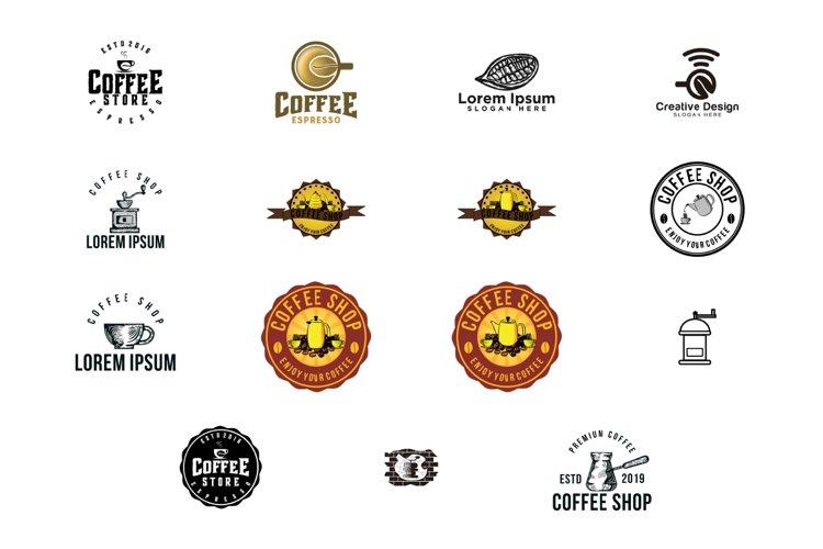 Coffee Shop logo Bundle