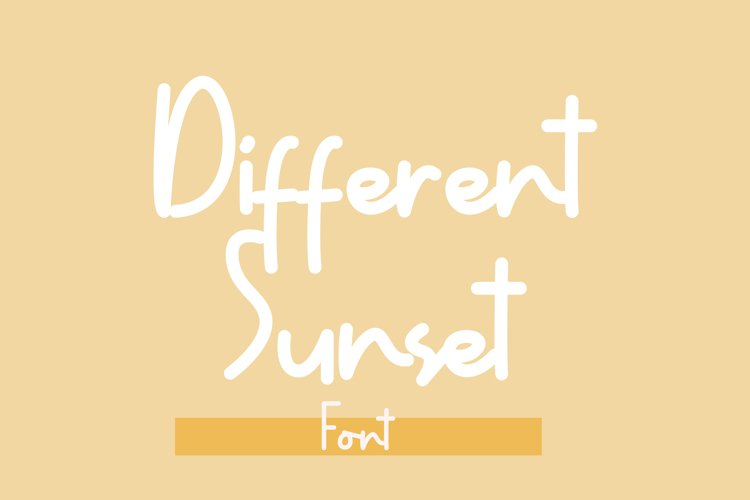 Different Sunset example image 1