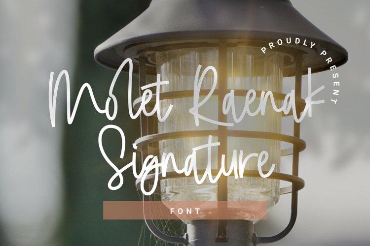 Molet Raenak Signature Font example image 1
