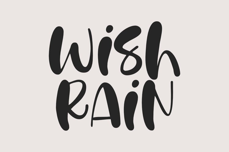 Wish Rain - A Fun Handwritten Font example image 1