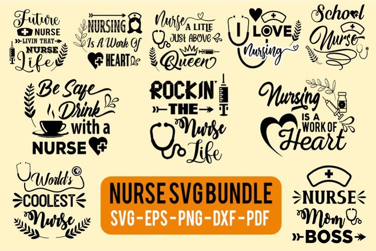 Nurse svg bundles collections