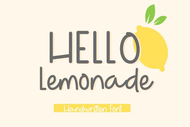 Hello Lemonade example image 1