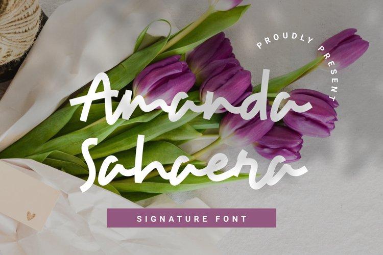 Amanda Sahaera Signature Font example image 1