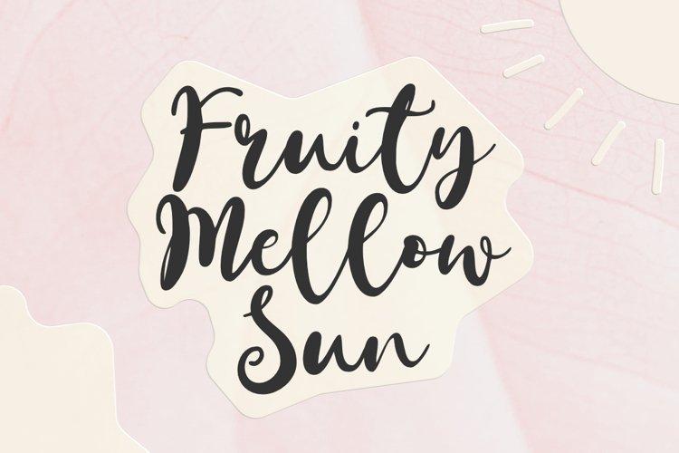 Fruity Mellow Sun - A Lovely Script Font example image 1