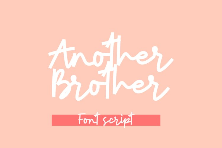 Another Brother Font Script example image 1