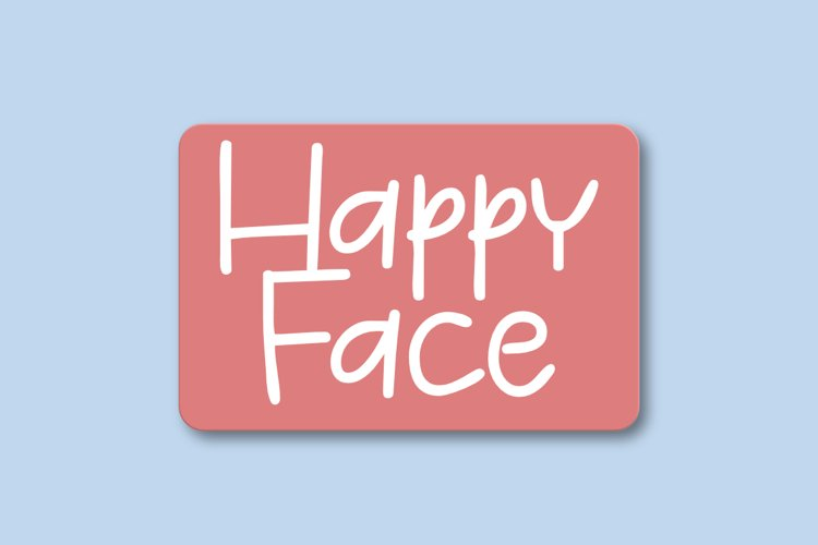 Happy Face - A Cute Display FOnt example image 1