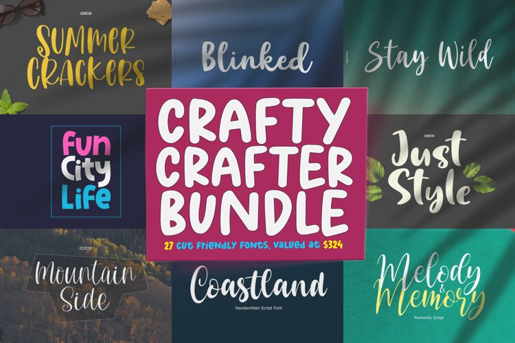 Epiclinez Crafty Crafter Bundle   27 Fonts Collection. example image 1