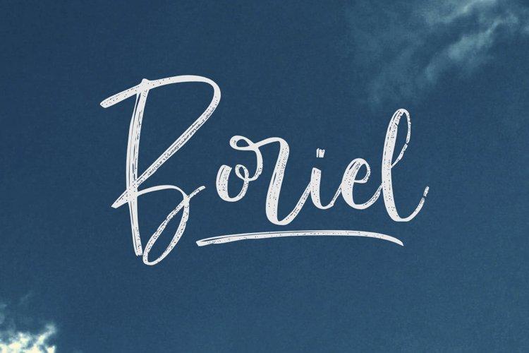 Boriel   Brush Script example image 1