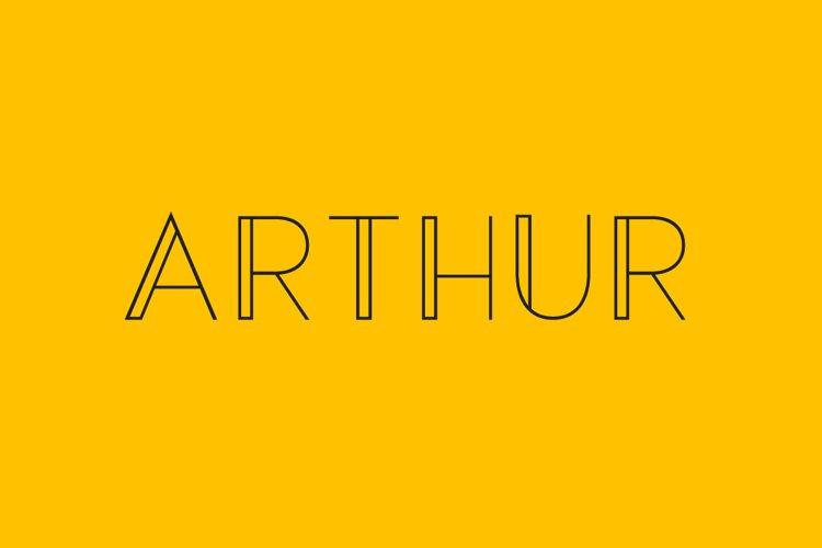 Arthur - a modern sans serif font example image 1