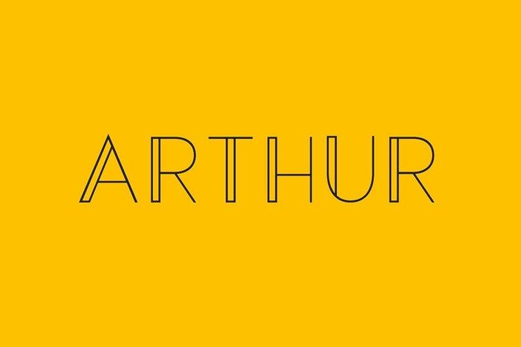 Web Font Arthur - a modern sans serif font example image 1