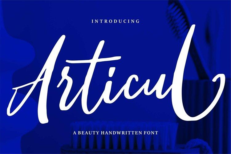 Web Font Articul - A Beauty Handwritten Font example image 1