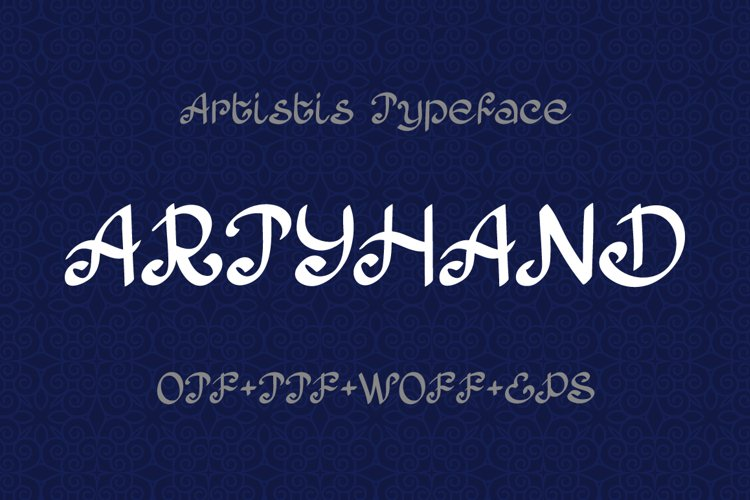 Artyhand calligraphy font example image 1