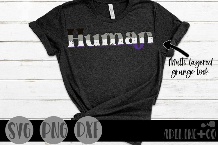 Human   Asexual, Pride, SVG, PNG, DXF example image 1