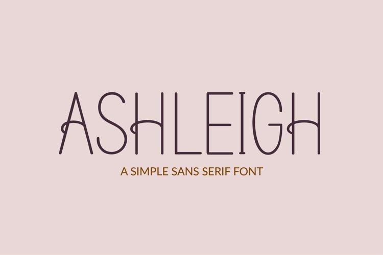 Ashleigh - a sans serif font example image 1