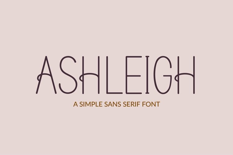 Web Font Ashleigh - a sans serif font example image 1
