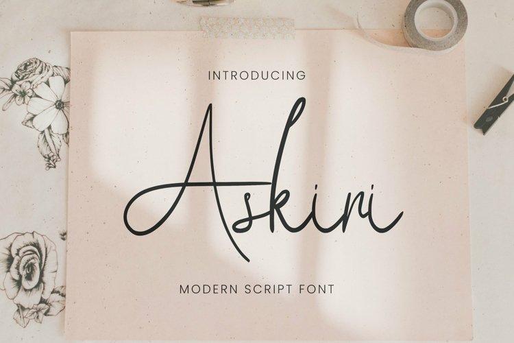Web Font Askiri example image 1
