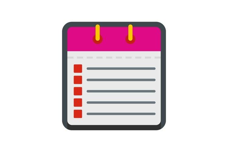 Calendar list icon, flat style
