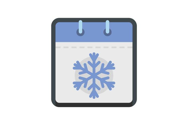 Calendar winter icon, flat style