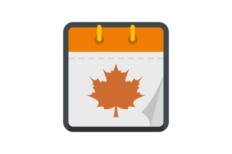 Calendar autumn icon, flat style