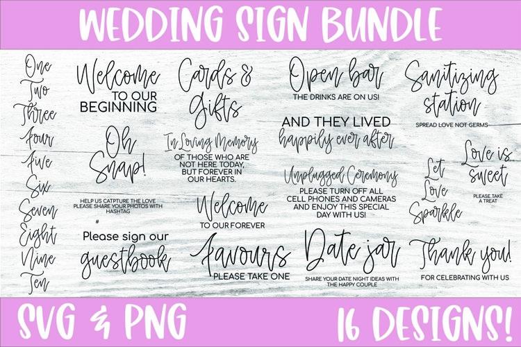 Wedding SVG bundle, Wedding sign bundle, wedding svg