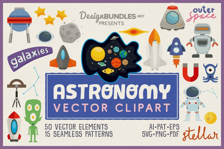 Astronomy Vector Clipart Pack