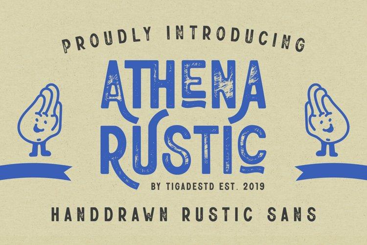 Athena Rustic | Handdrawn Rustic Sans Serif Font example image 1