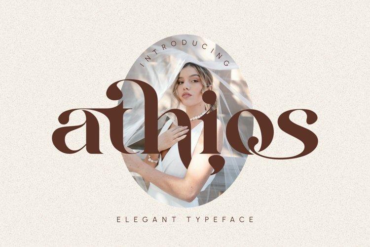 Athios - Elegant Typeface example image 1
