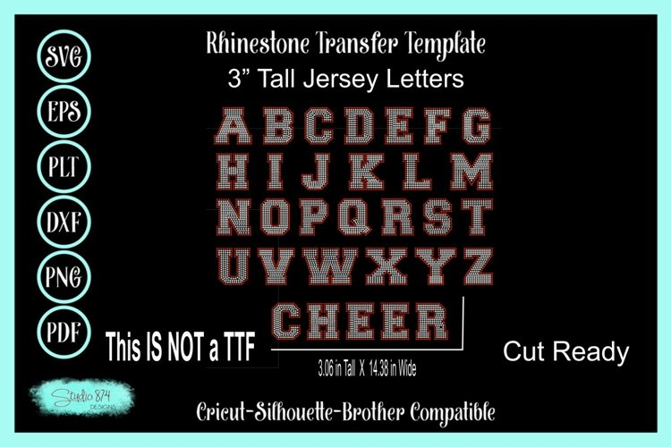 Athletic Jersey Letters - 3 In Tall - Cut file