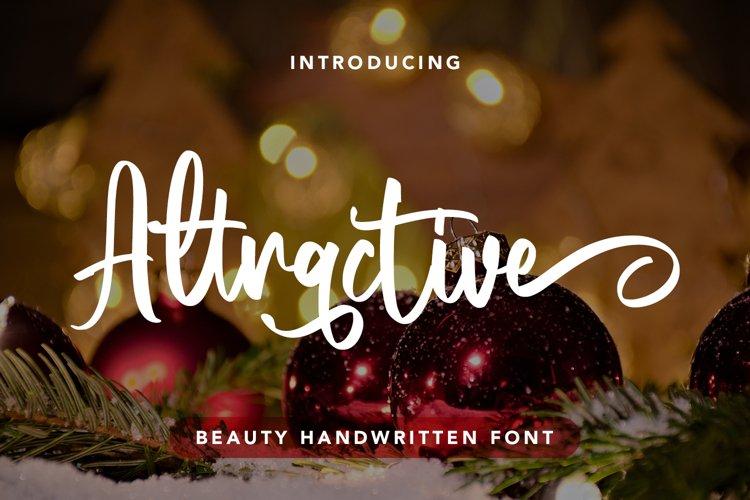 Attractive - Beauty Handwritten Font example image 1