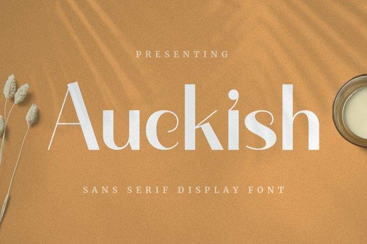 Web Font Auckish - Display Font