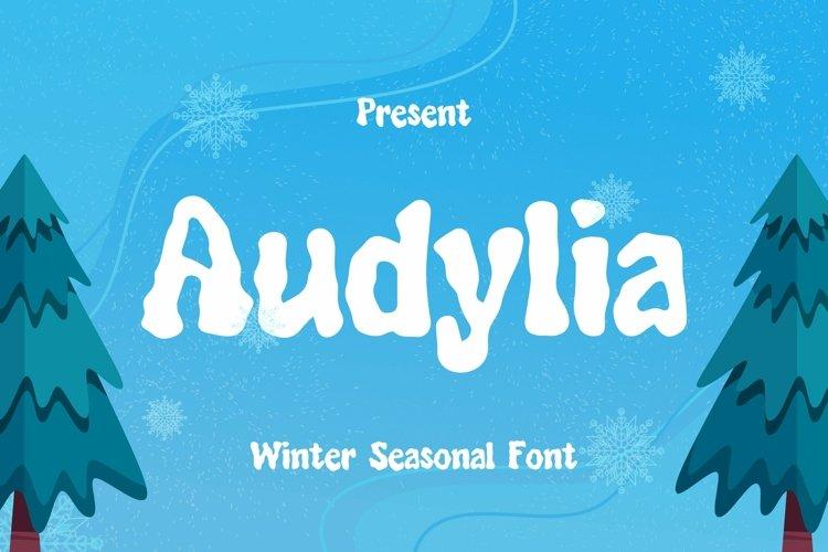 Web Font Audylia Font example image 1