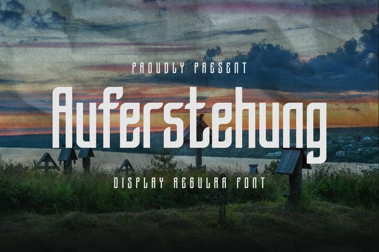 Web Font Auferstehung - Display Font example image 1