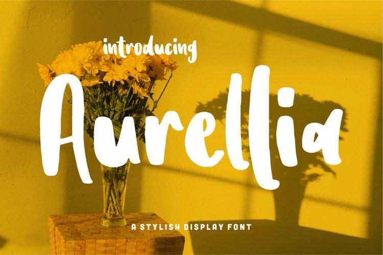 Aurellia - A Stylish Display Font example image 1