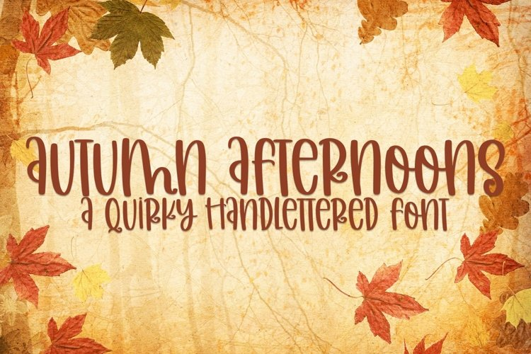 Web Font Autumn Afternoons - A Quirky Handlettered Font example image 1