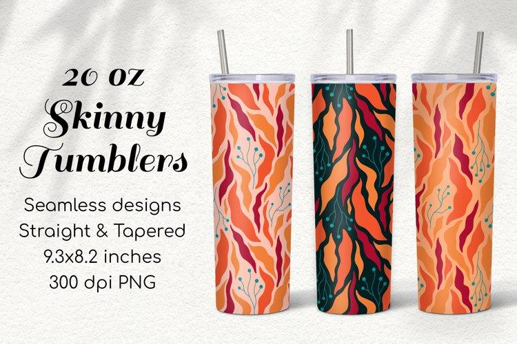 3 Seamless 20Oz Skinny Tumbler Fall Sublimation Thanksgiving