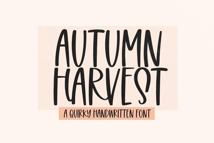 Web Font Autumn Harvest - Fun Handwritten Font example image 1
