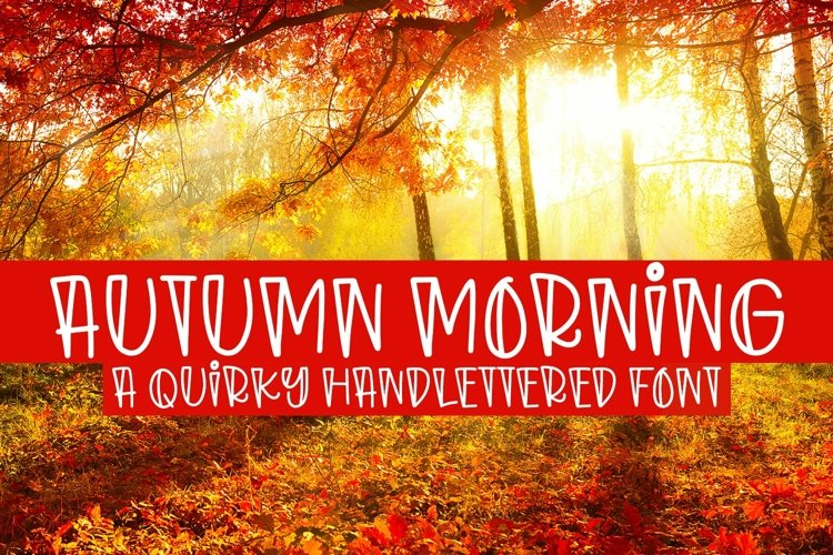 Web Font Autumn Morning - A Quirky Handlettered Font example image 1