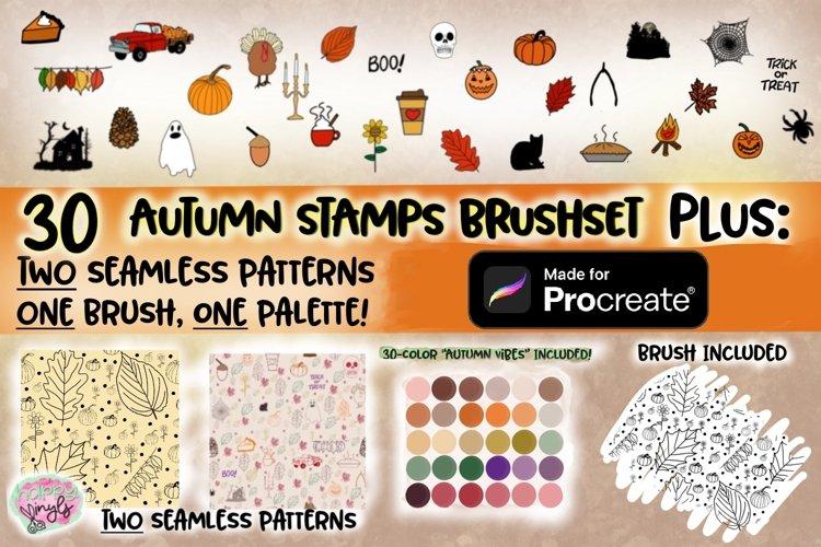 Autumn Procreate Set - A PROCREATE Add-On Set