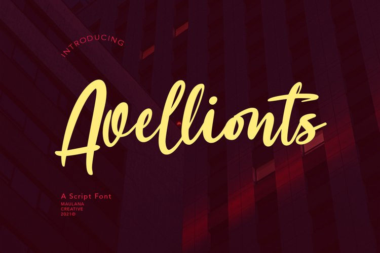 Avellionts Script Display Font example image 1