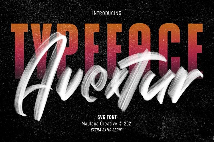 Avextur SVG Brush Font example image 1