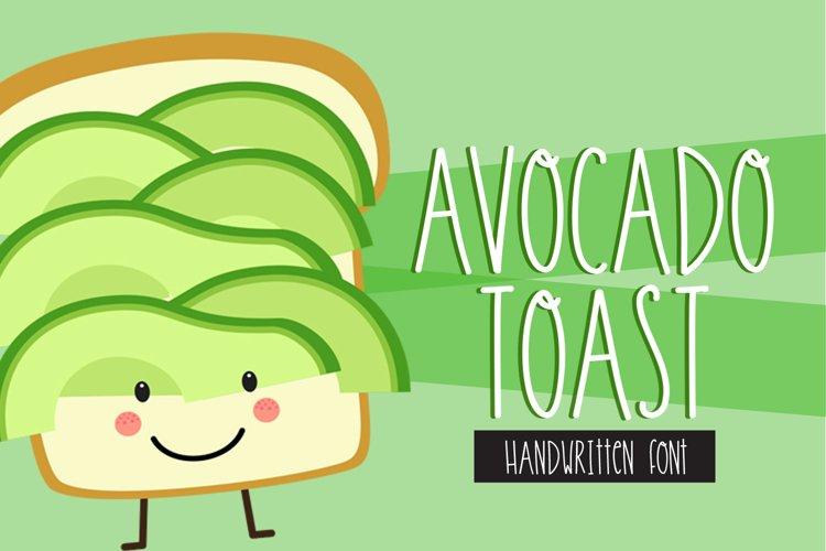 Avocado Toast Handwritten Font