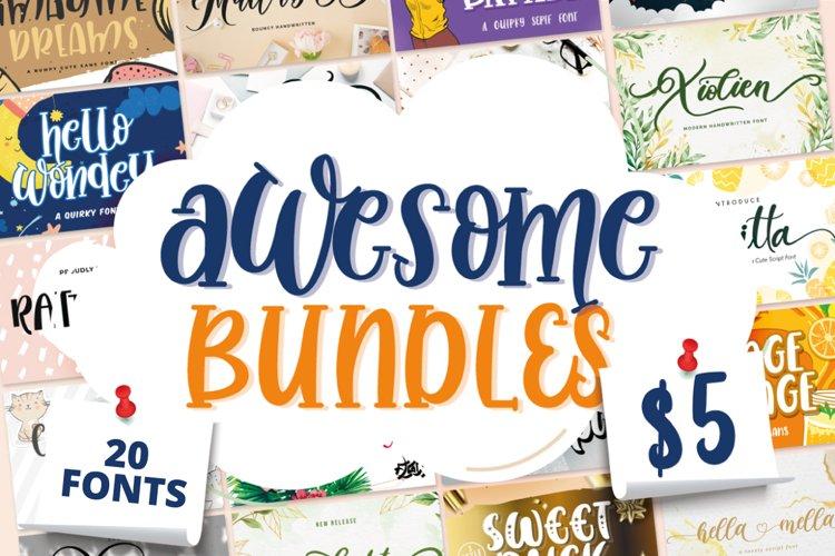 Awesome Bundles Vol 01 - 20 Fonts