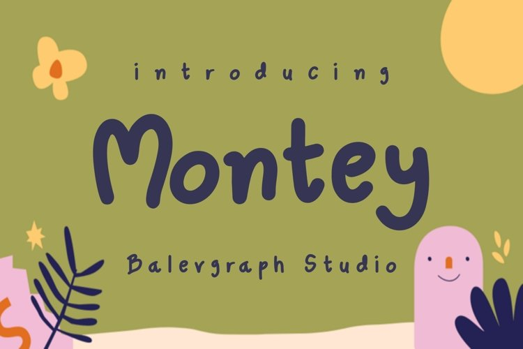Montey Cute Font example image 1