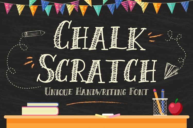 Chalk Scratch Font example image 1