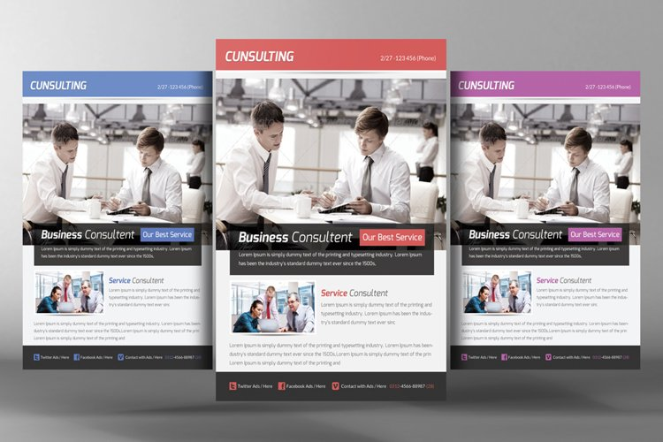 Business Consulting Flyer Template example image 1