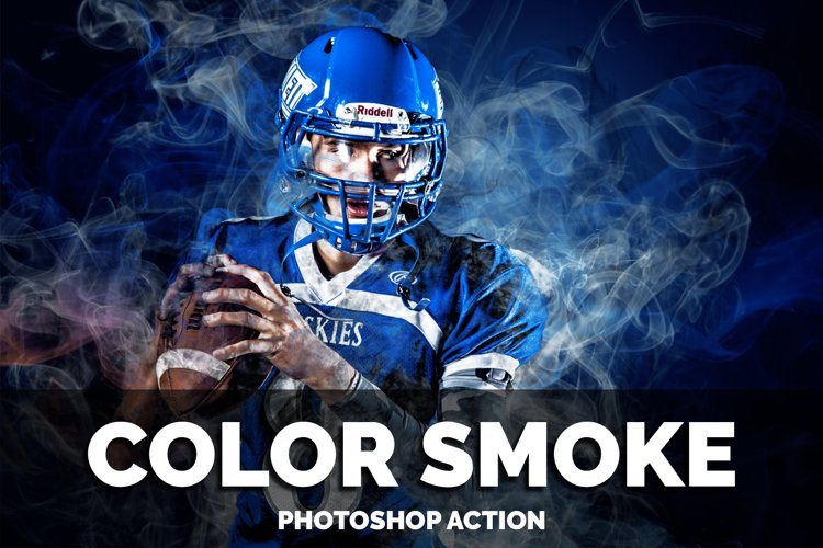 Color Smoke Photoshop Action example image 1