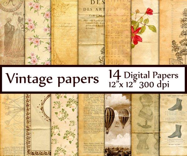 Vintage Digital Paper example image 1