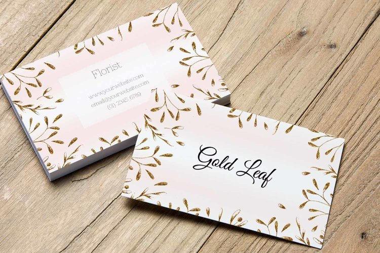 Gold Leaf Creative Business Card Template example 1